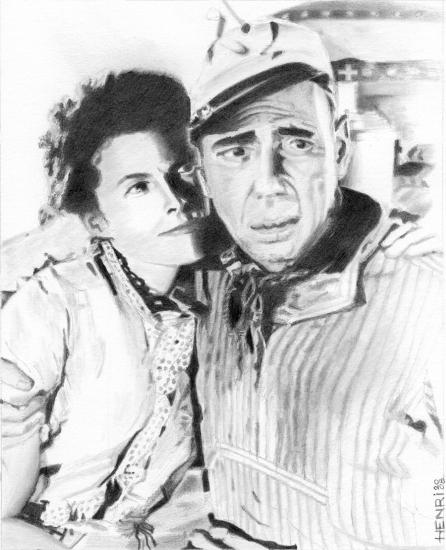 Katharine Hepburn, Humphrey Bogart por Riton